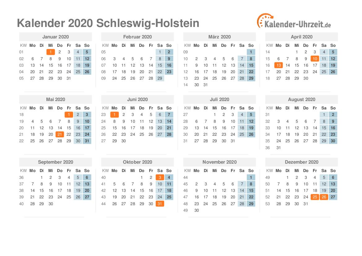 feiertage schleswig holstein 2020
