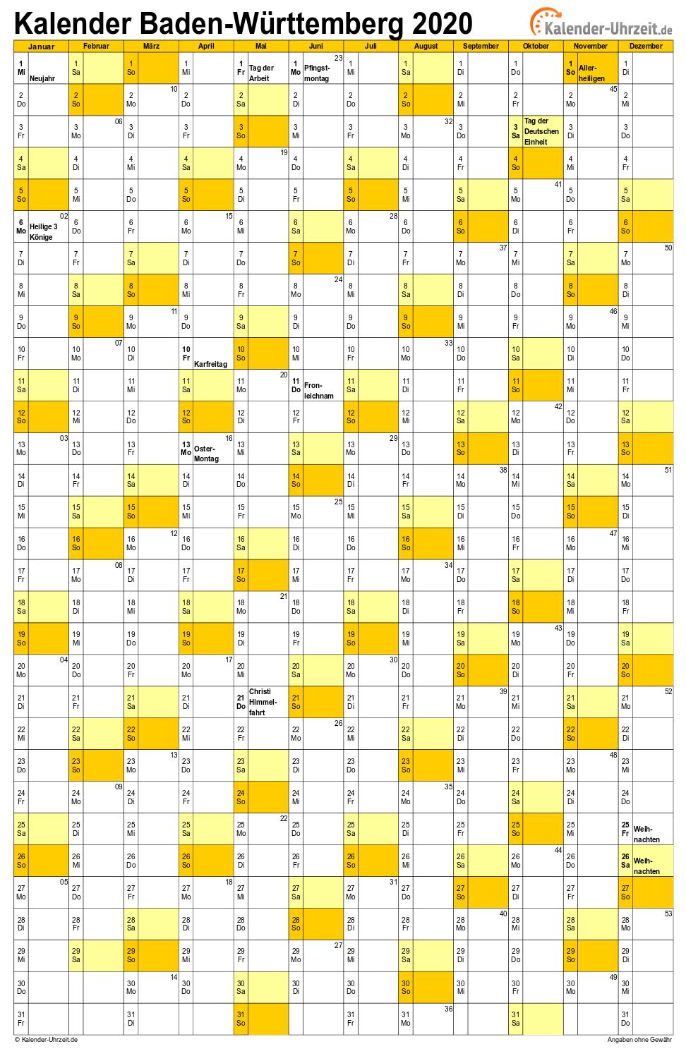 Gesetzliche Feiertage Baden WГјrttemberg 2020