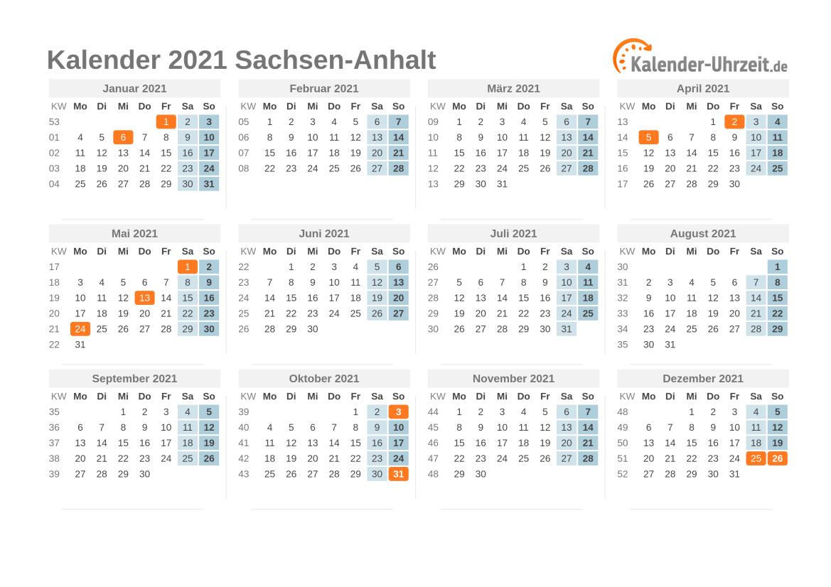 feiertage sachsen anhalt 2021 kalender