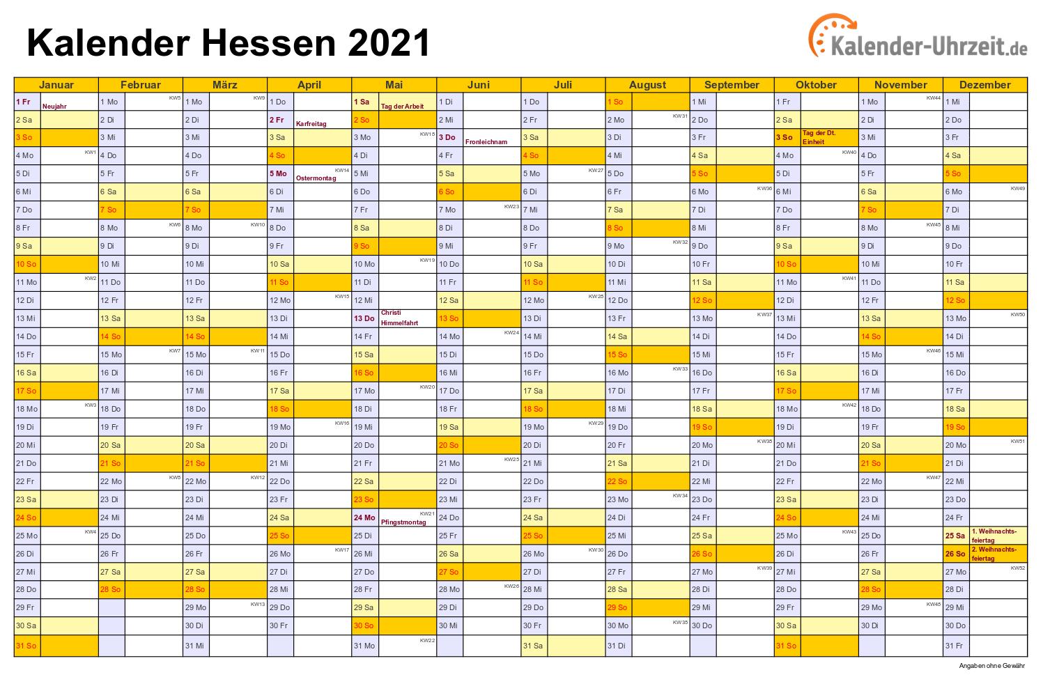 Feiertag 2021 Hessen