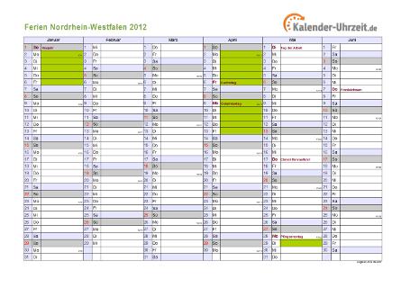 Sommerferien Nrw 2012