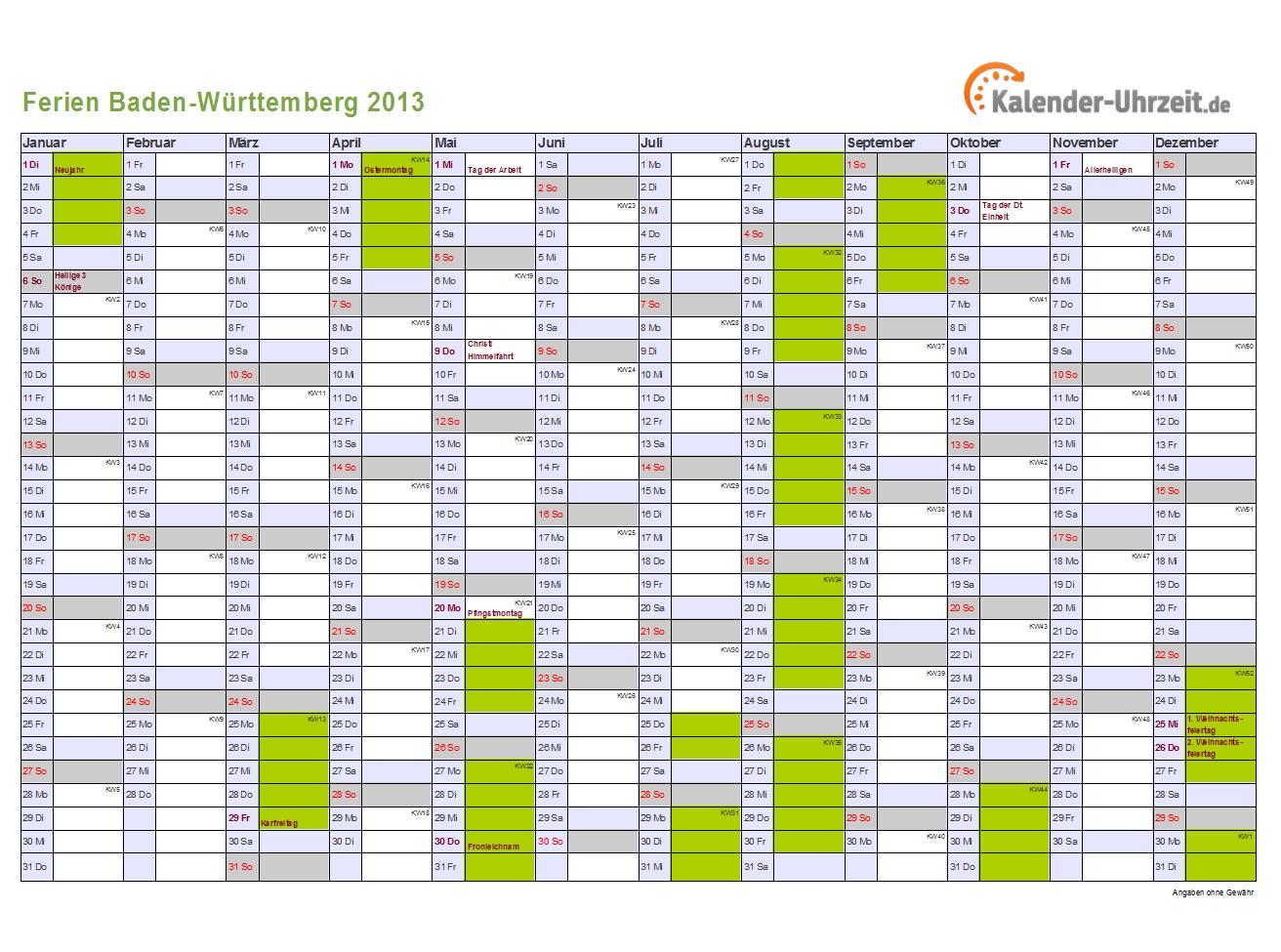 1312 x 975 · 95 kB · png, Ferienkalender 2013 Baden-Württemberg mit ...
