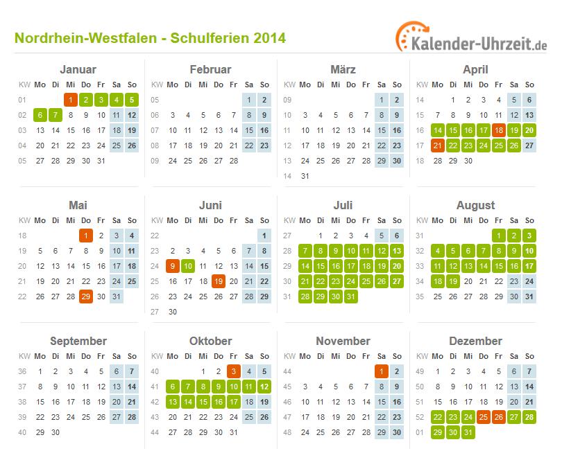ferien nordrhein westfalen 2014 ferienkalender zum. Black Bedroom Furniture Sets. Home Design Ideas
