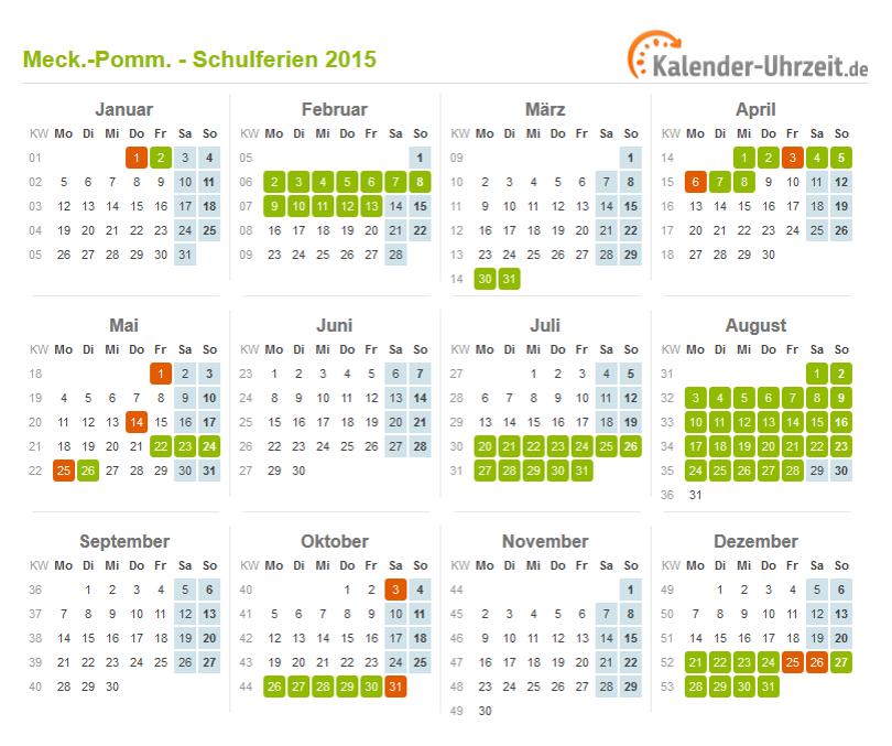 Ferien Meck Pomm 2015 Ferienkalender Zum Ausdrucken