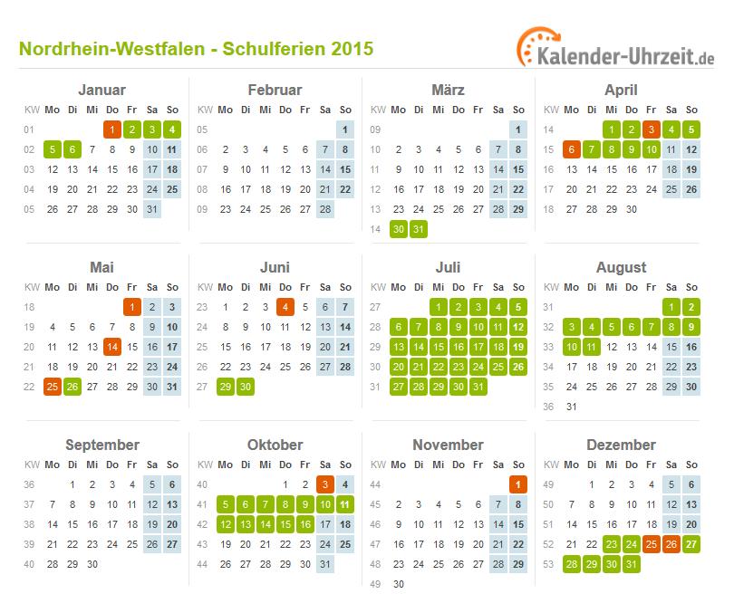 Ferien Nordrhein-Westfalen 2015 - Ferienkalender zum ...