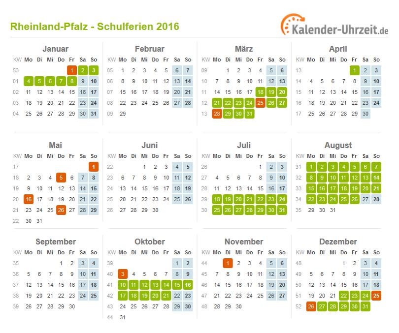 Kalender 2015 Rheinland-Pfalz: Ferien, Feiertage, Excel-Vorlagen