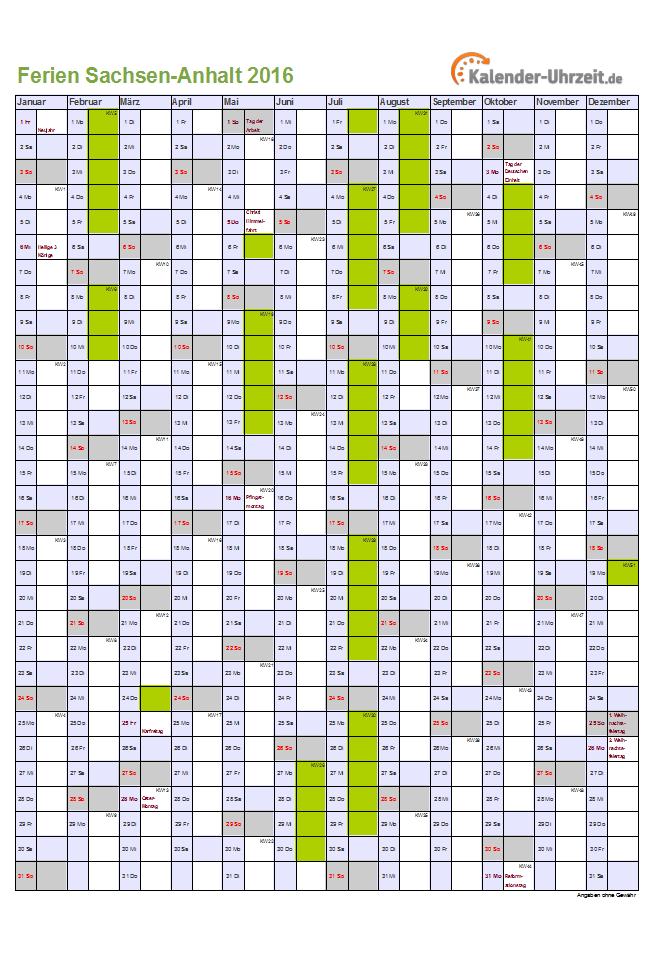 Jahreskalender Selbst Ausdrucken Mit Feiertagen Und Schulferien ...