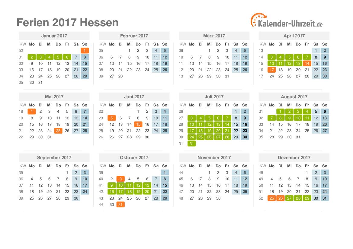 Ferien Hessen Sommer