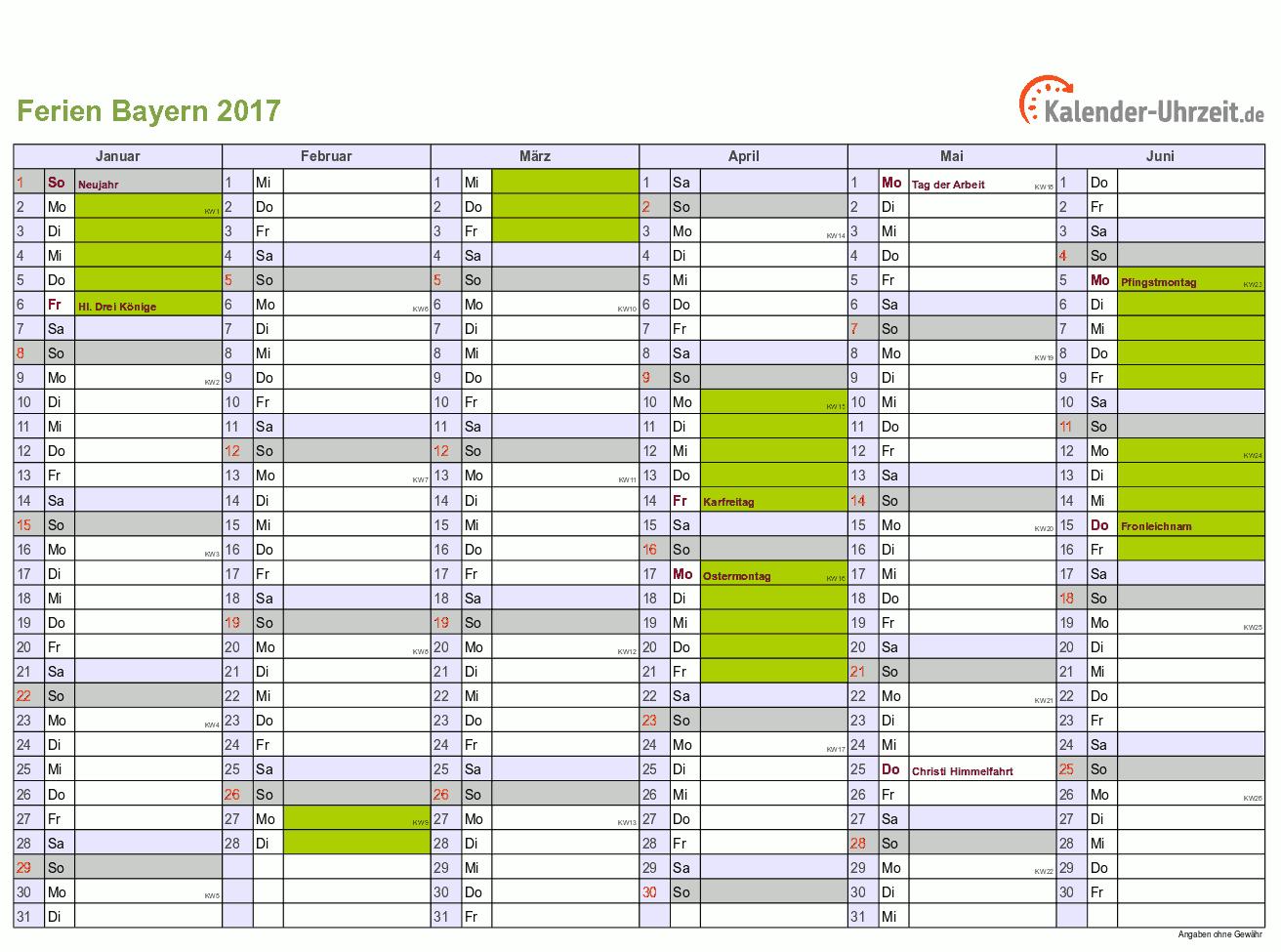 ferien bayern 2017 ferienkalender zum ausdrucken. Black Bedroom Furniture Sets. Home Design Ideas