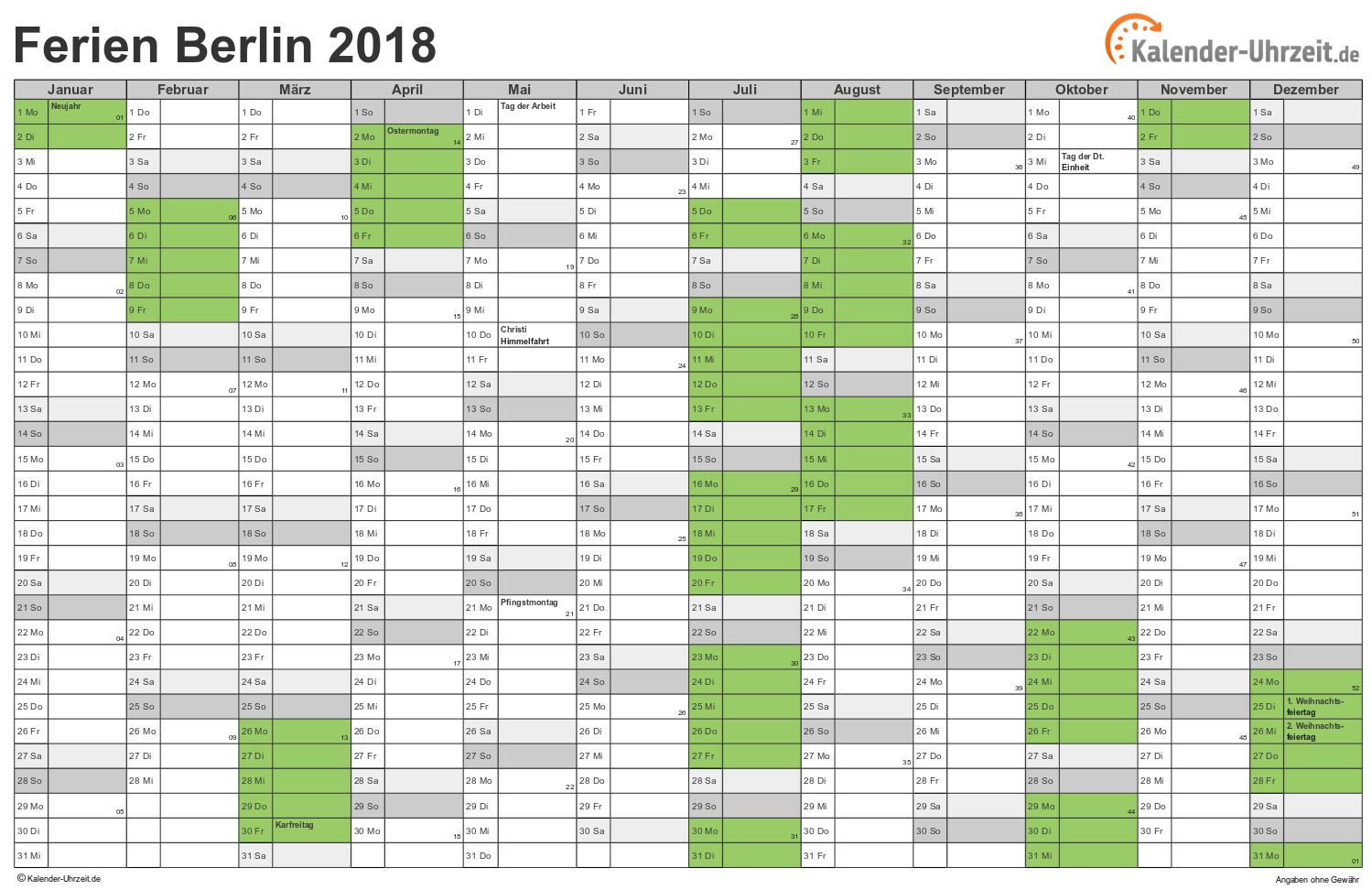 ferienkalender 2018