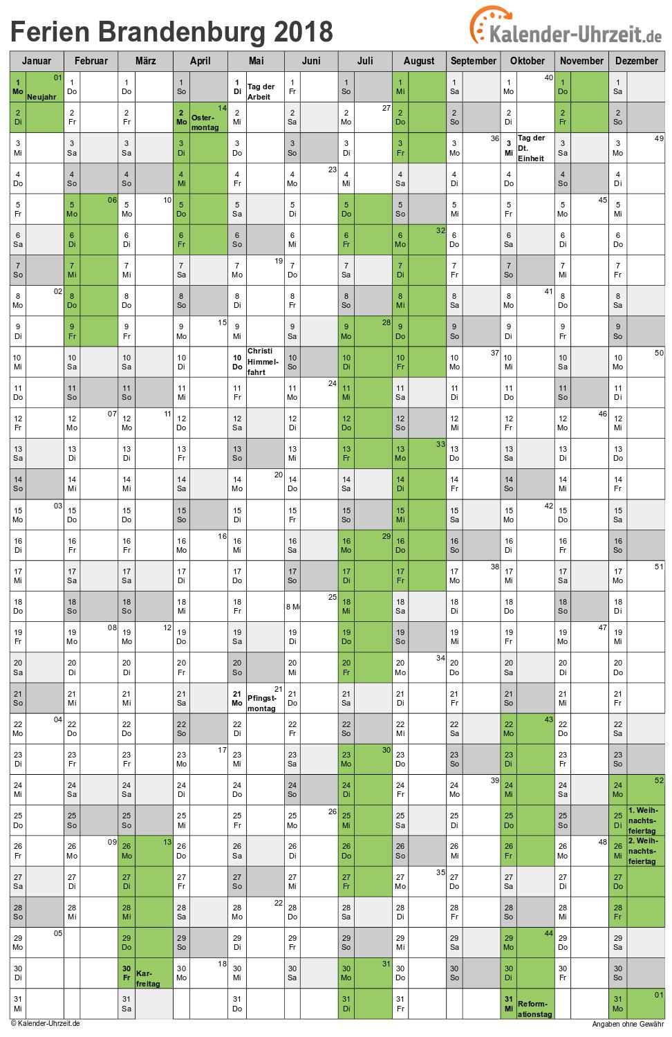 kalender 2018 mit feiertagen und ferien nrw calendrier. Black Bedroom Furniture Sets. Home Design Ideas