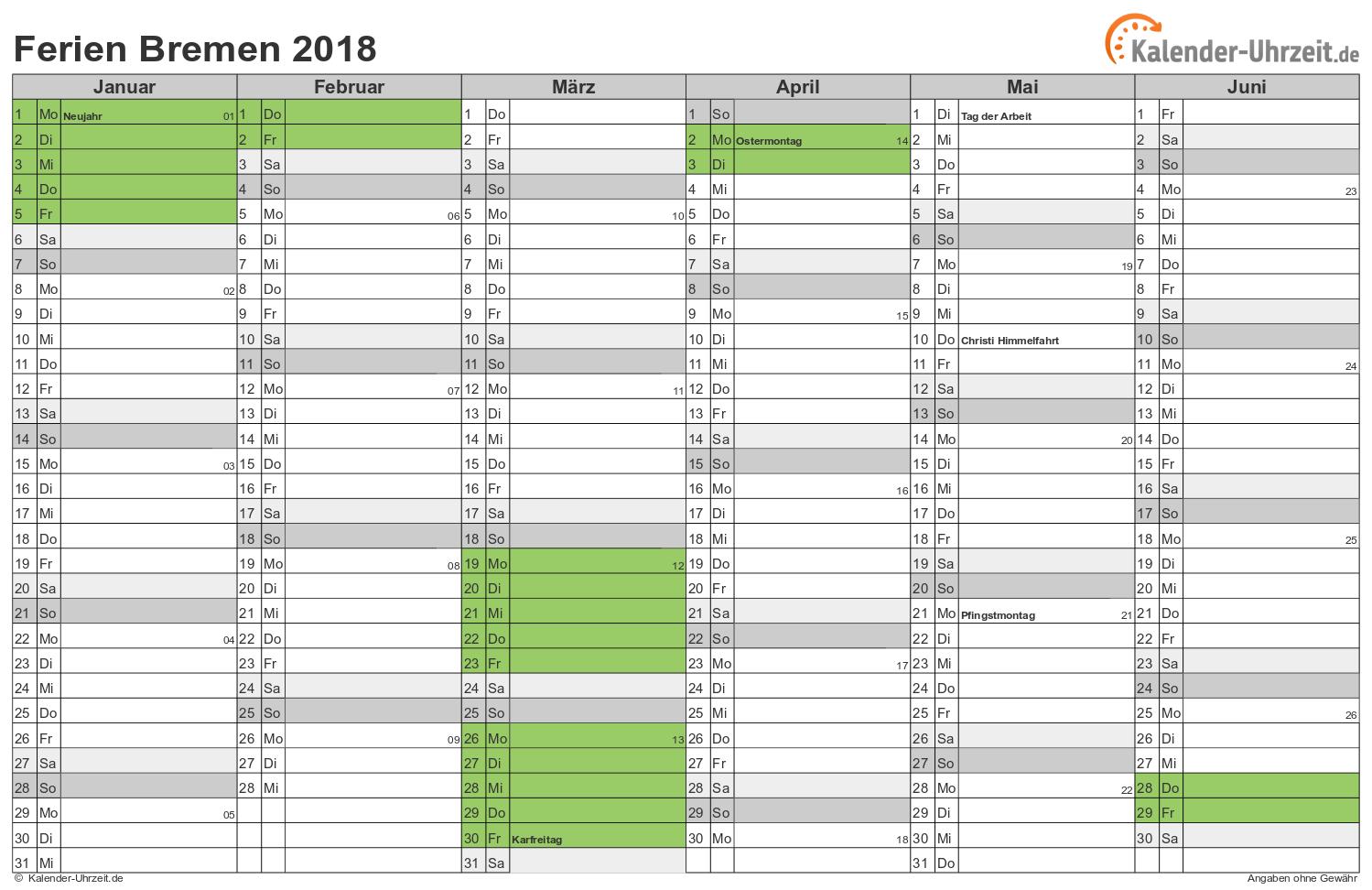 kalender bremen