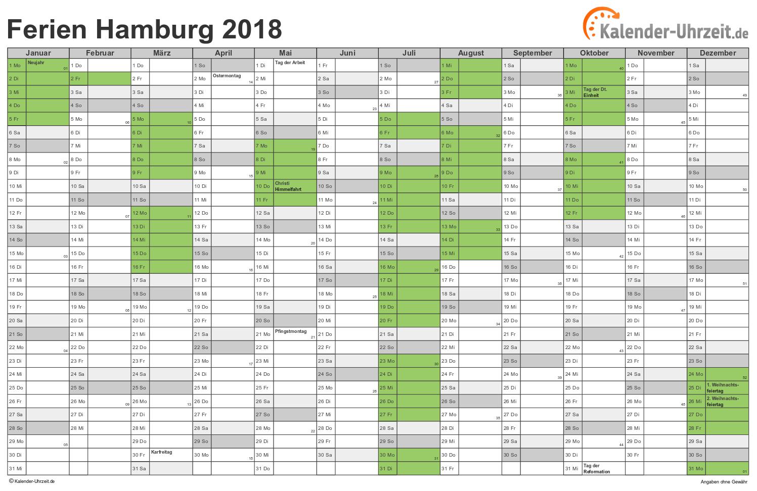 Kalender 2018 Quer Zum Ausdrucken