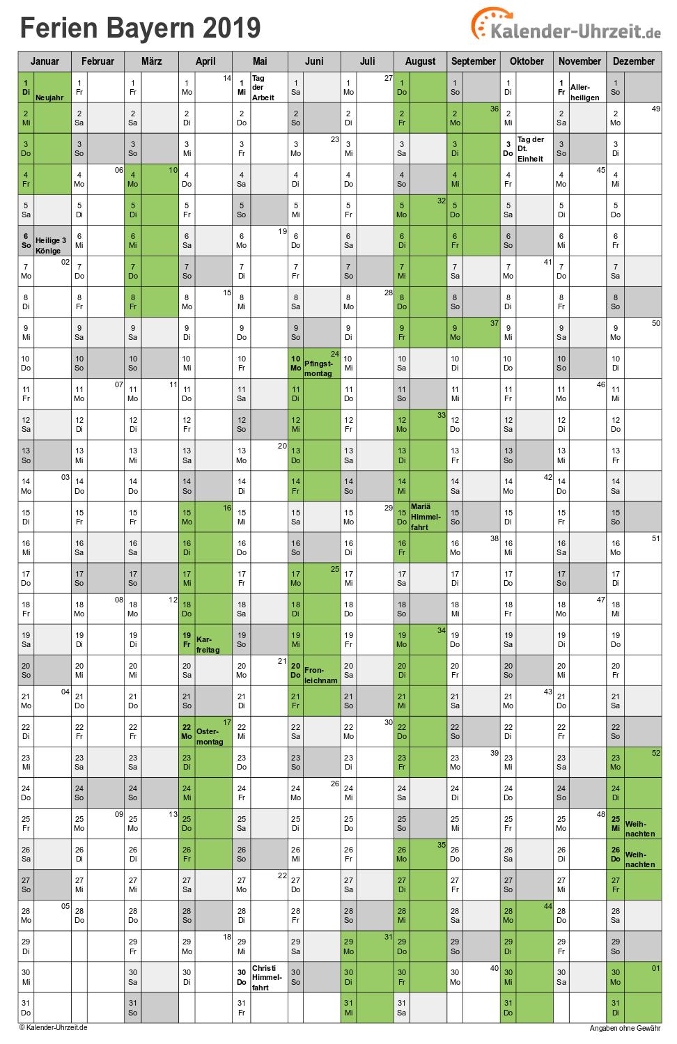 Pfingstferien in bayern 2020