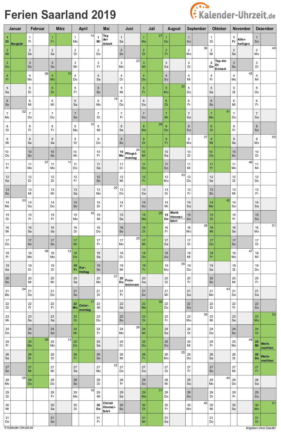 Ausbildungsplätze 2019 Saarland : ferien saarland 2019 ferienkalender zum ausdrucken ~ Aude.kayakingforconservation.com Haus und Dekorationen