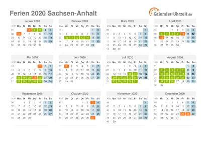 schulferien sachsen-anhalt 2020