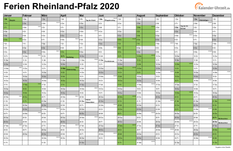 Feiertage Pfalz 2020