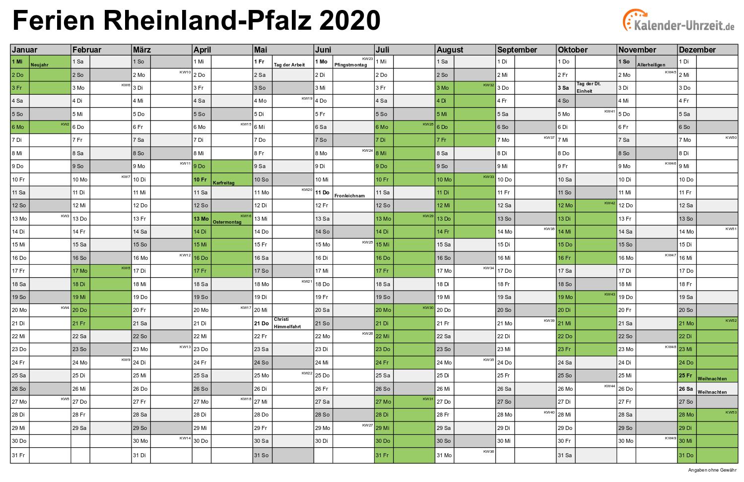 Feiertage Rheinlandpfalz 2020