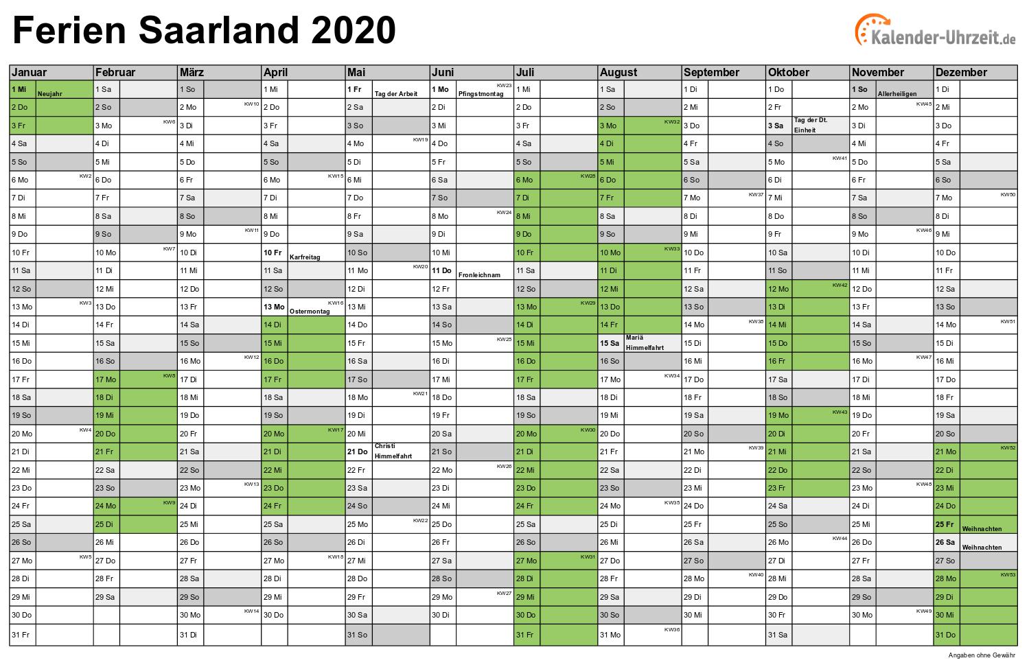 Feiertag Saarland 2020