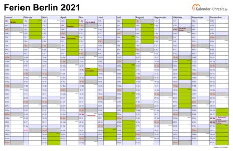 Ferien 2021 2021 Berlin