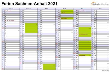 Ferien Sachsen Anhalt 2021/19