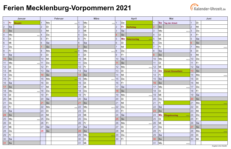 schulferien 2020 mv