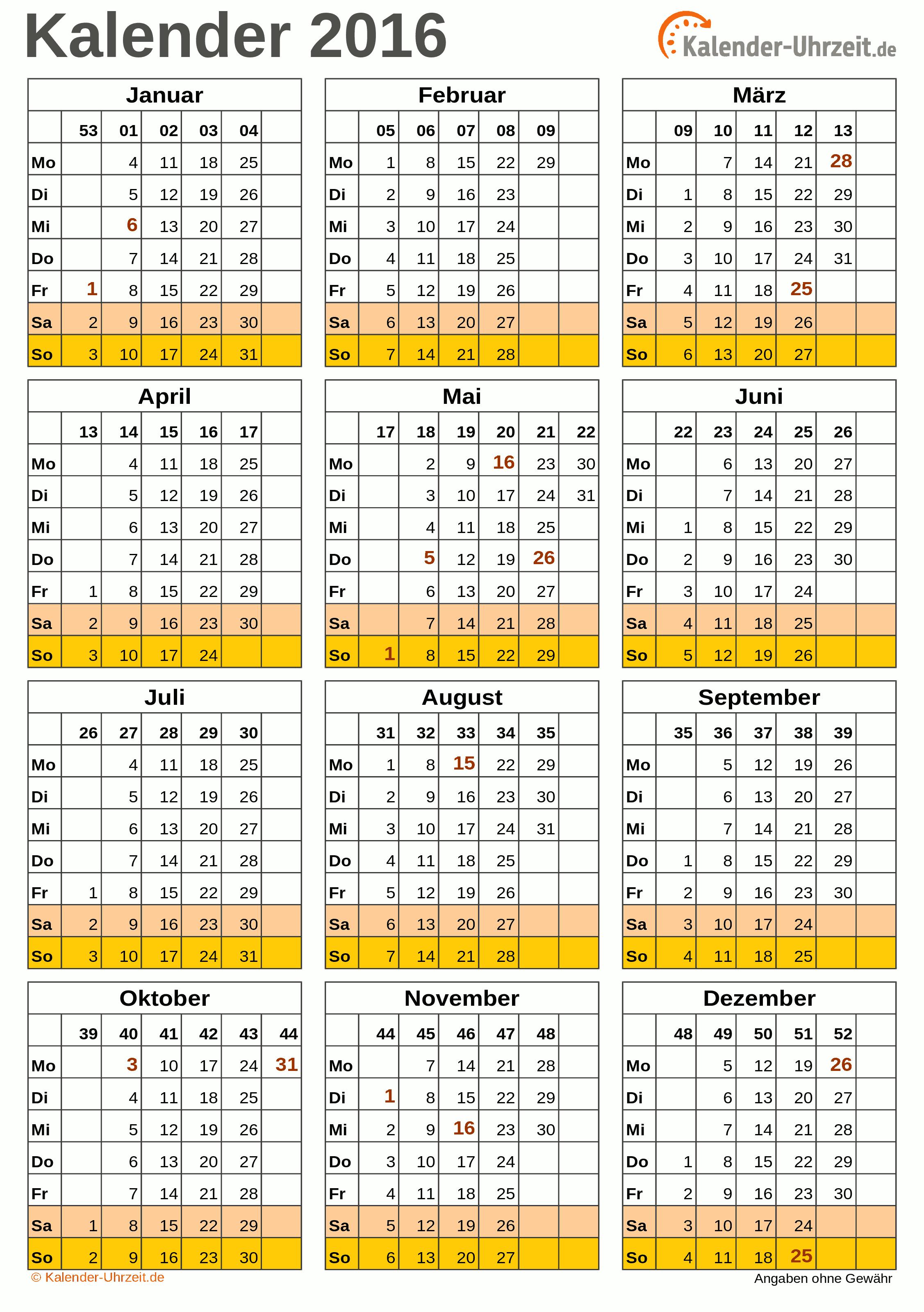 Bayern ausdrucken zum 2016 kostenlos kalender KALENDER 2016