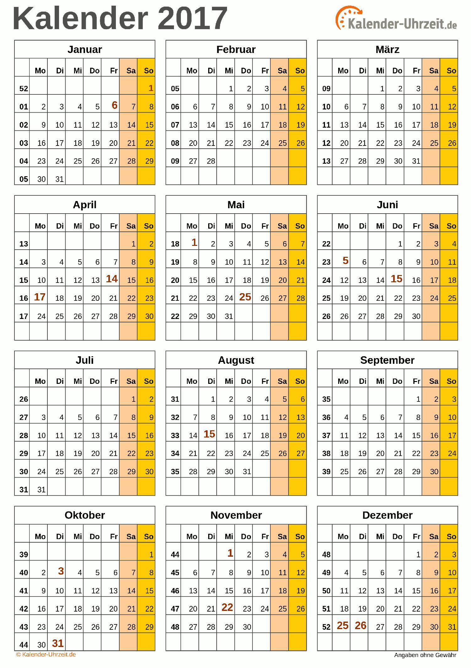 Jahreskalender 2017 A4-Hochformat V3 Vorschau