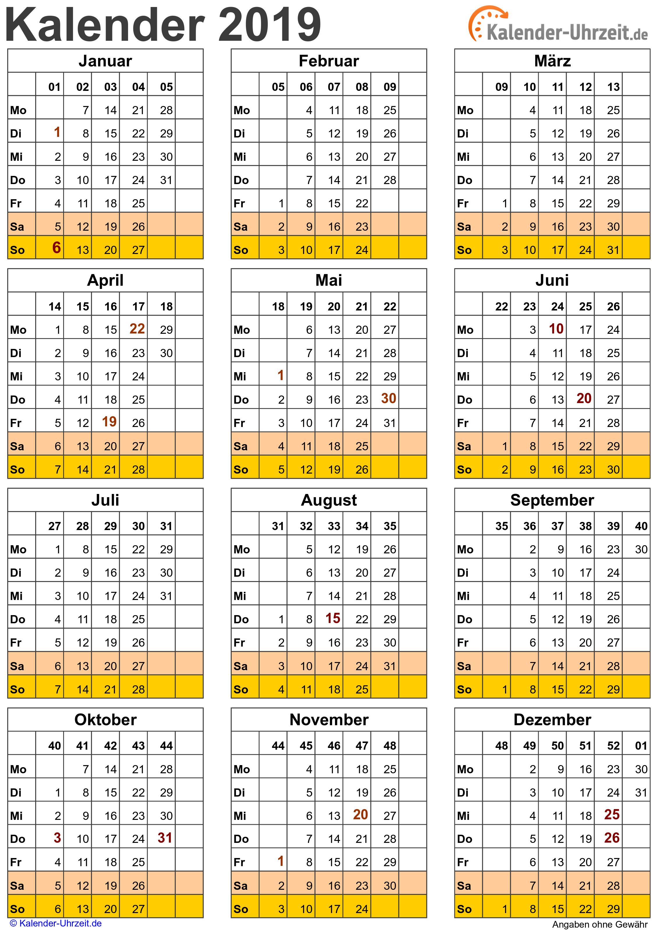 Kalender 2019 Related Keywords - Kalender 2019 Long Tail ...