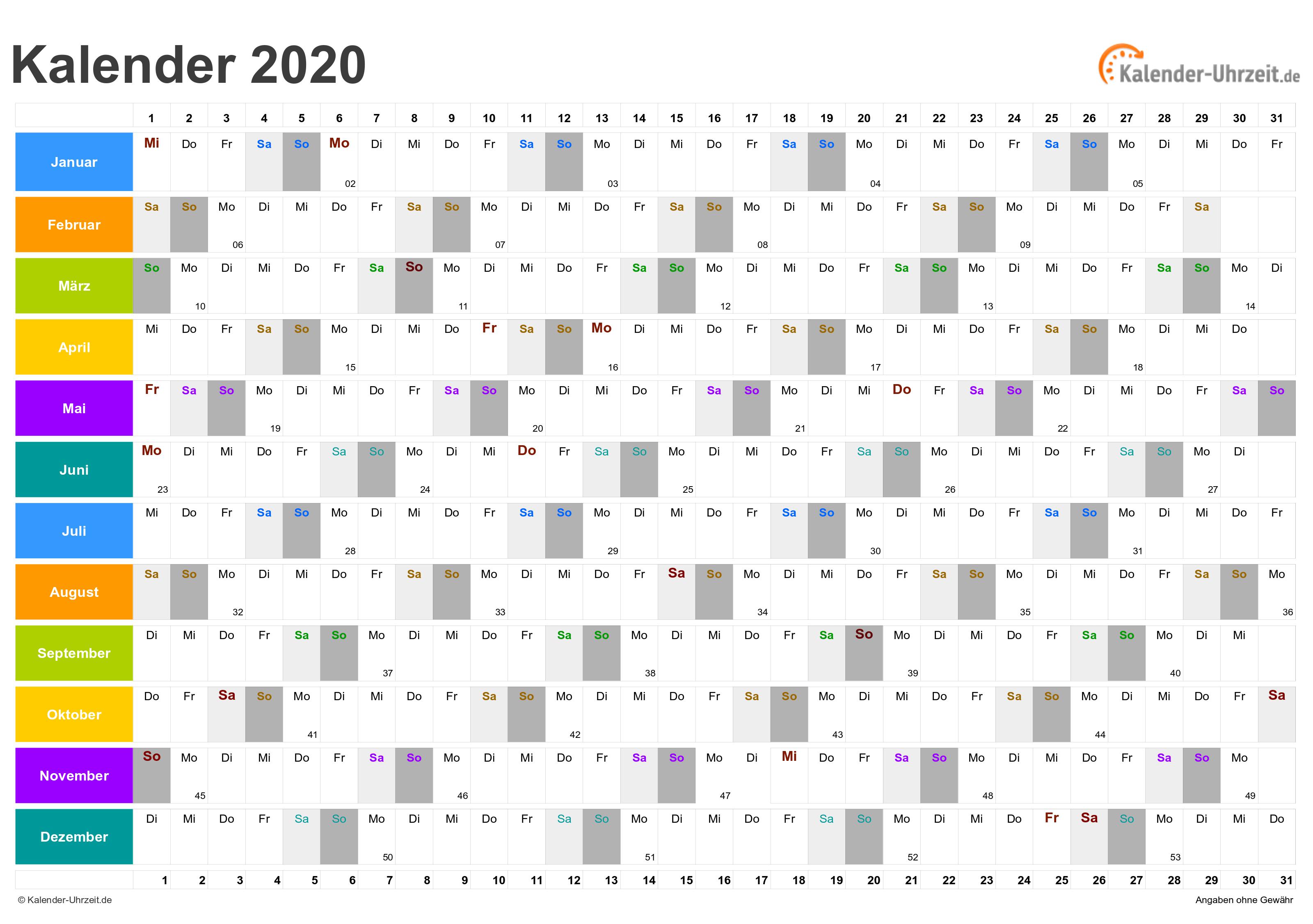 Schönherr kalender 2020
