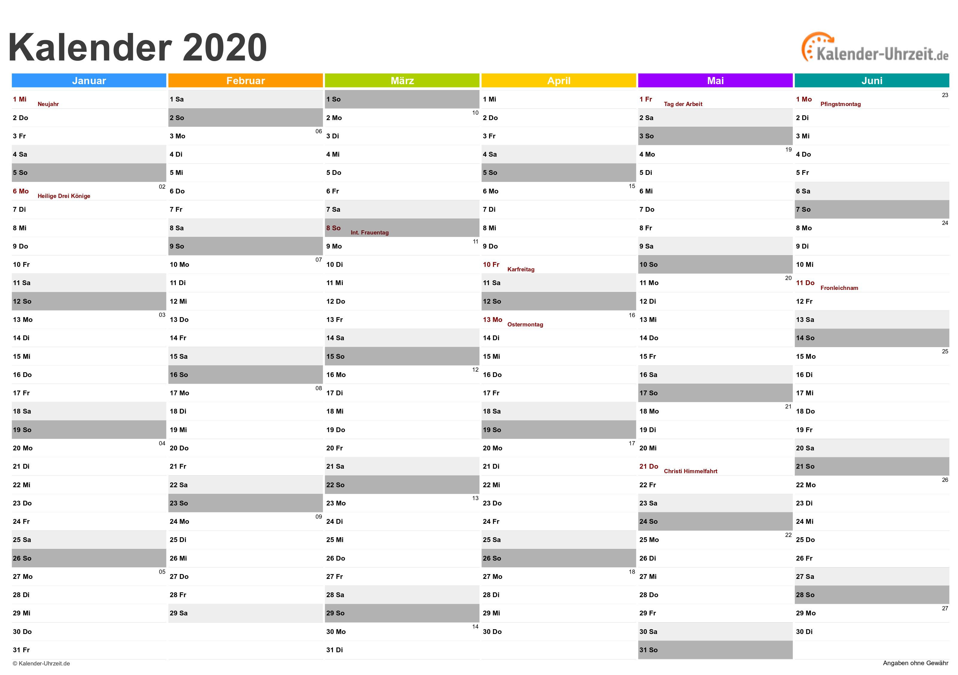 excel kalender 2020 kostenlos. Black Bedroom Furniture Sets. Home Design Ideas