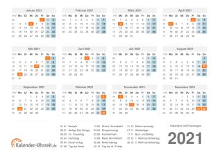 Kleiner Kalender 2021