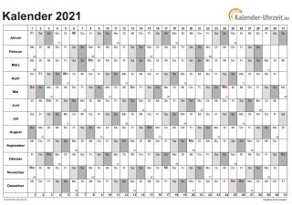 Kalender-Uhrzeit.De 2021