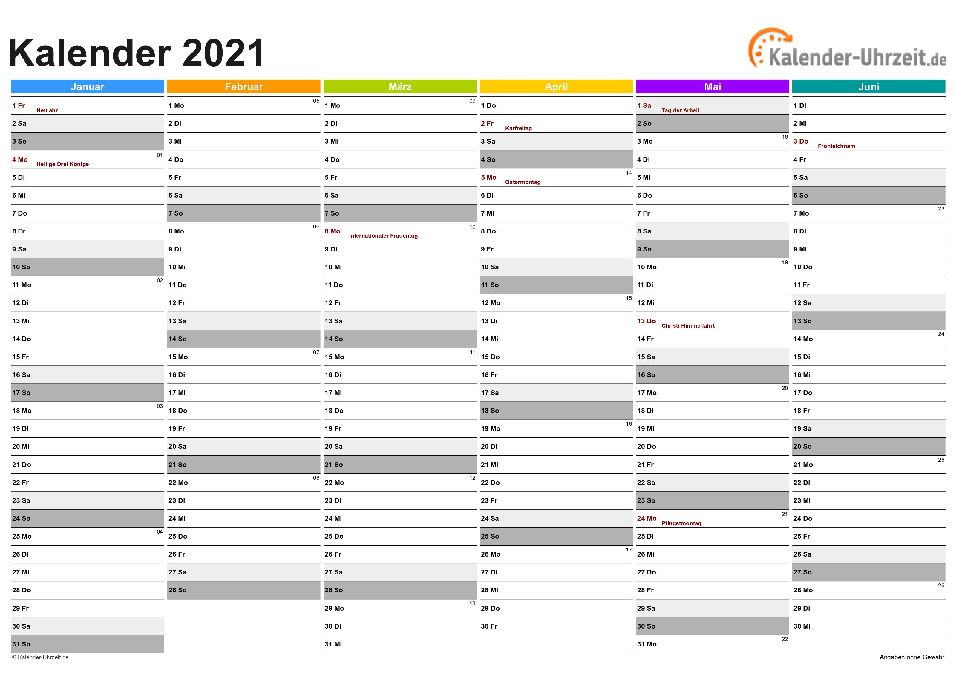 kalender 2021 a4 zum ausdrucken  ferien schleswig