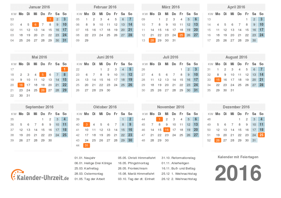 kalender 2016 gratis download