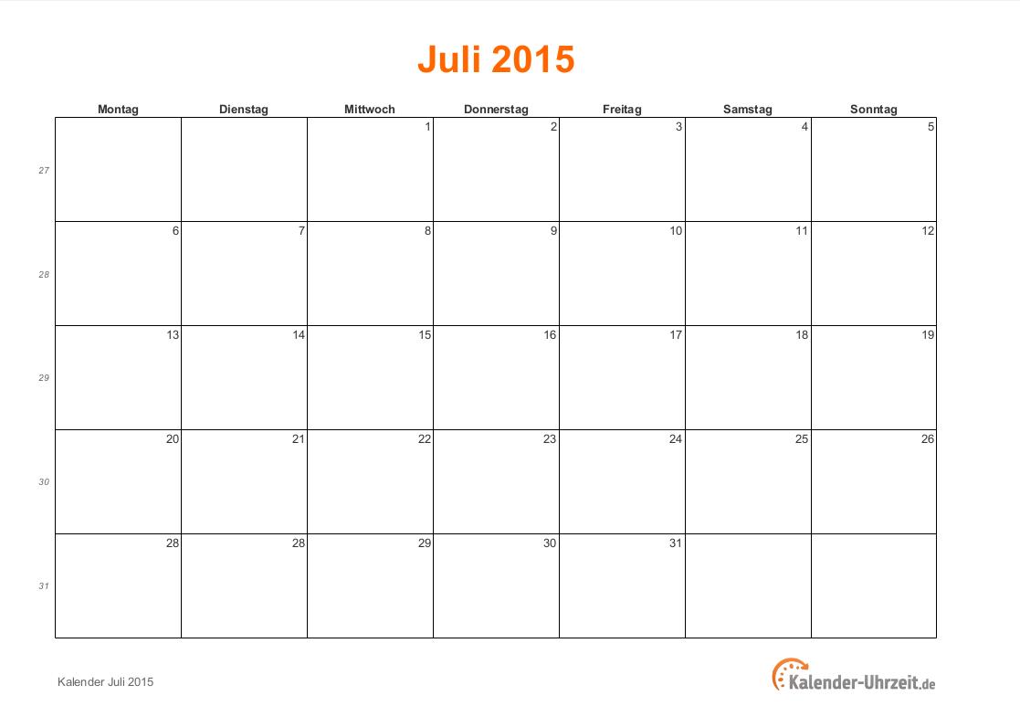 Wunderbar Kalendervorlage Monatlich 2015 Zeitgenössisch - Entry ...