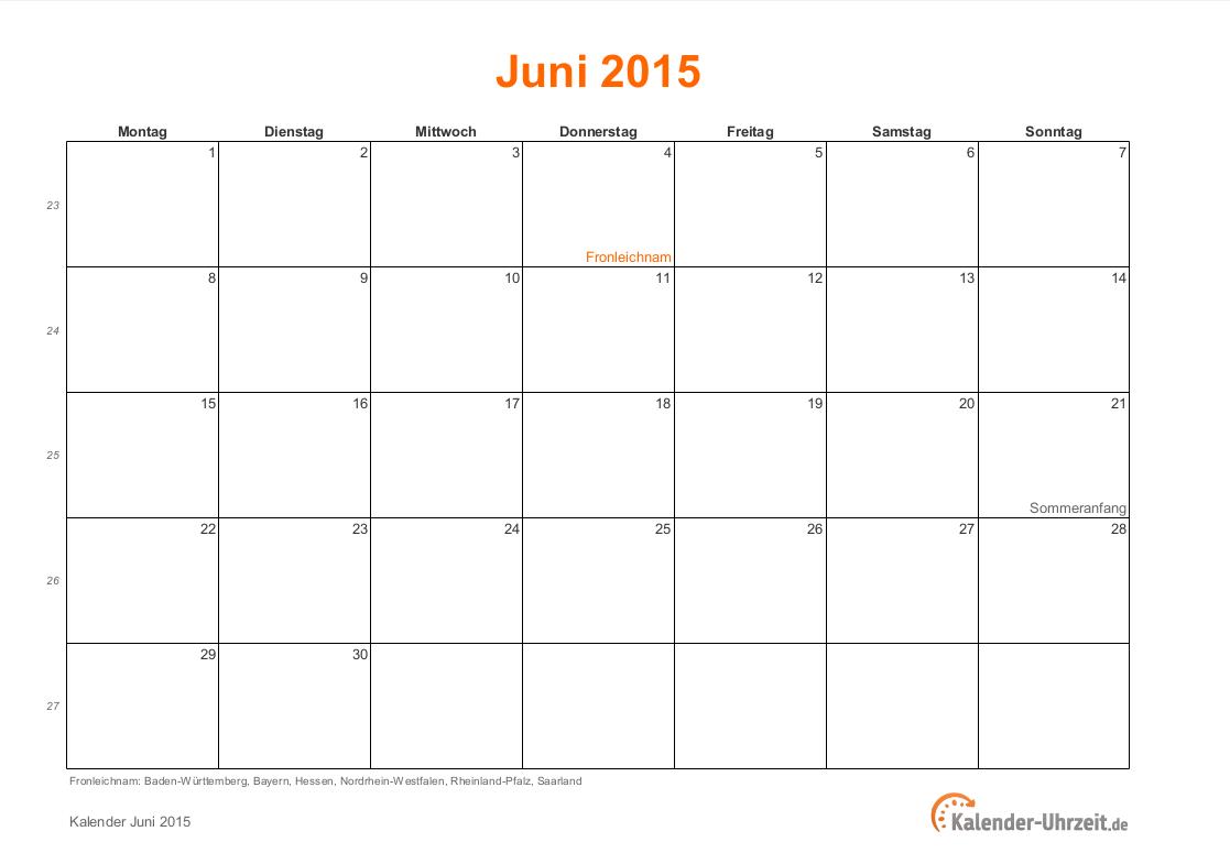 kalender juni 2015 - Selo.l-ink.co