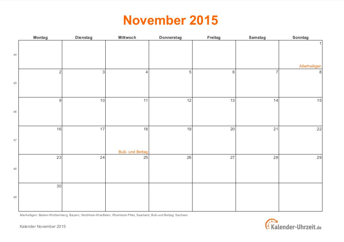kalender 2015 november search results calendar 2015. Black Bedroom Furniture Sets. Home Design Ideas