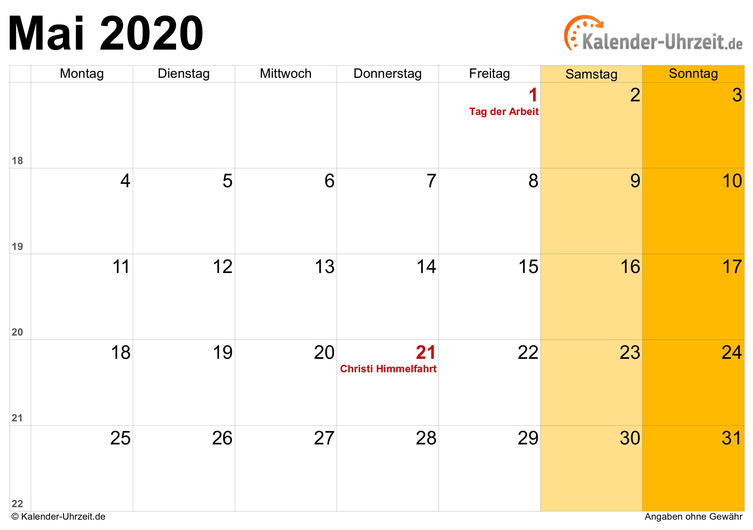 Feiertage Mai 2020 HeГџen