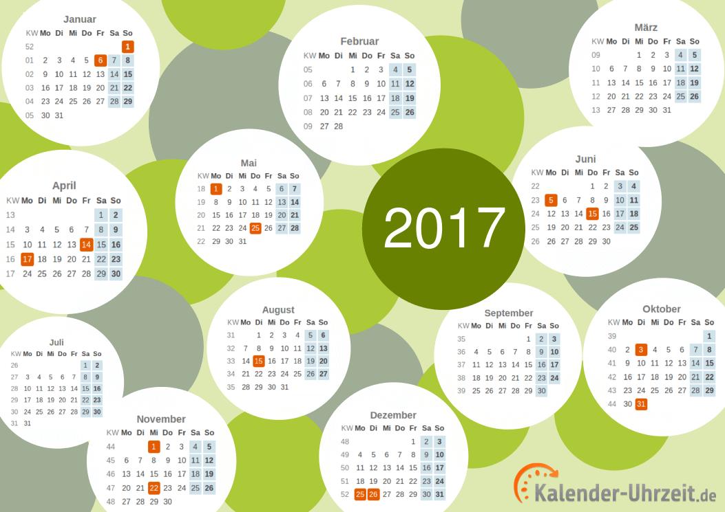 Motivkalender 2017 - PDF-Vorlage 1 Vorschau