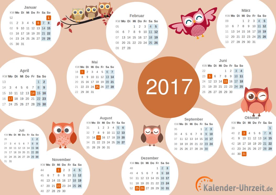 Motivkalender 2017 - PDF-Vorlage 2 Vorschau