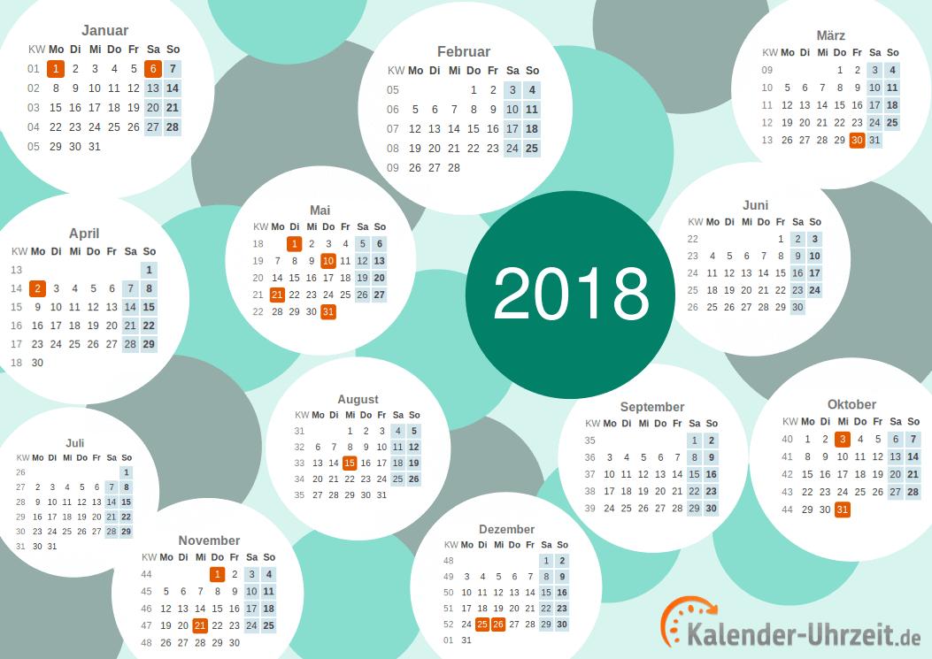 Motivkalender 2018 - PDF-Vorlage 1 Vorschau