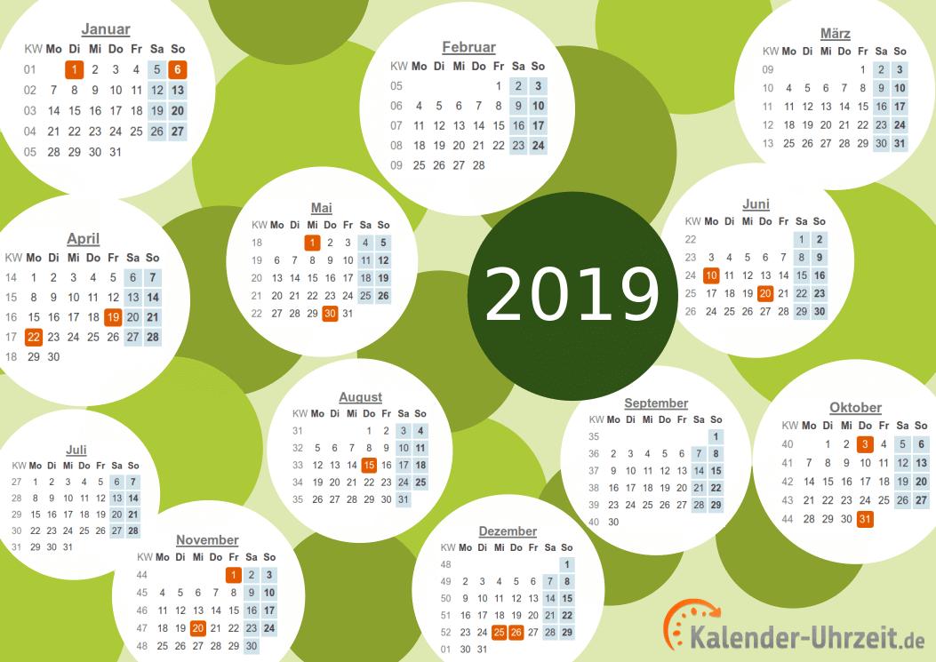 Motivkalender 2019 - PDF-Vorlage 1 Vorschau
