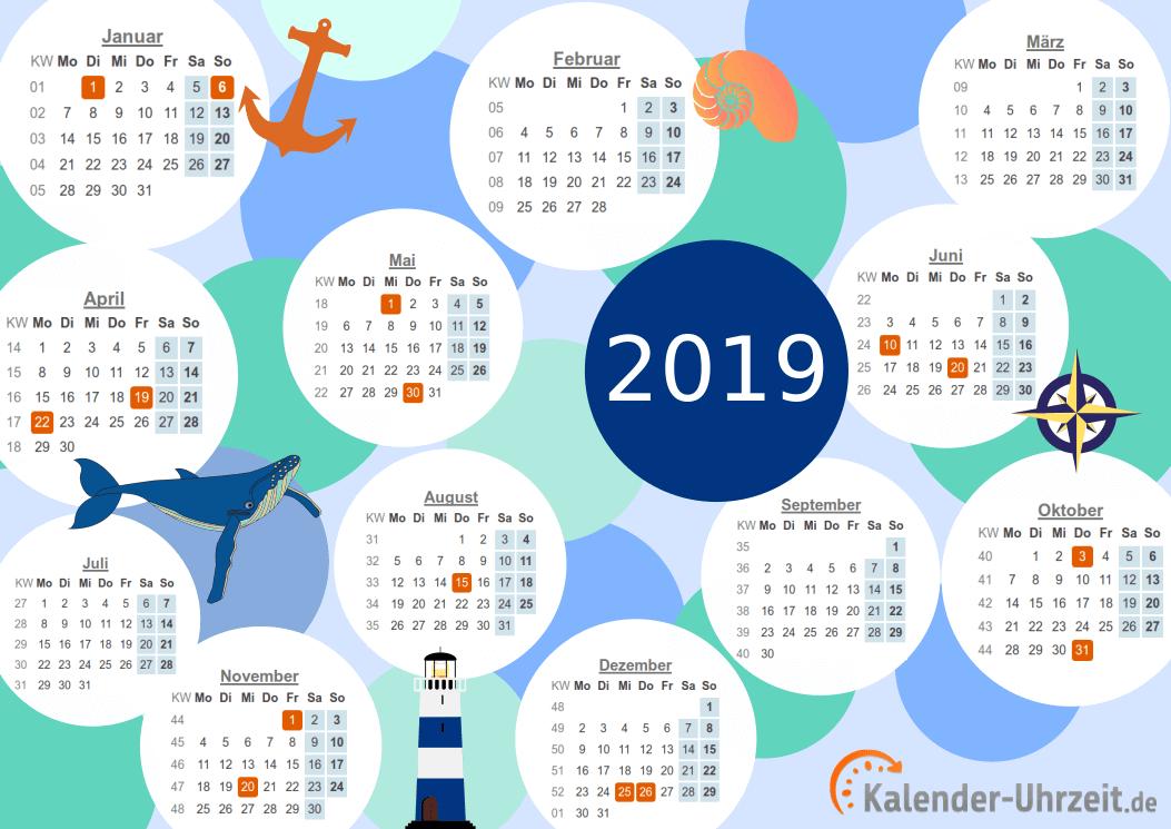 Motivkalender 2019 - PDF-Vorlage 2 Vorschau