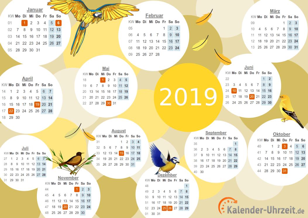 Motivkalender 2019 - PDF-Vorlage 3 Vorschau
