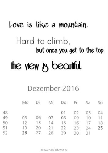 Kalender 2016 Zum Ausdrucken Kostenlos