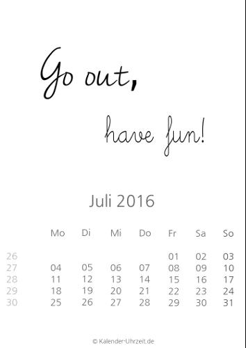 Kalenderblatt 2016 Zum Ausdrucken | Calendar Template 2016