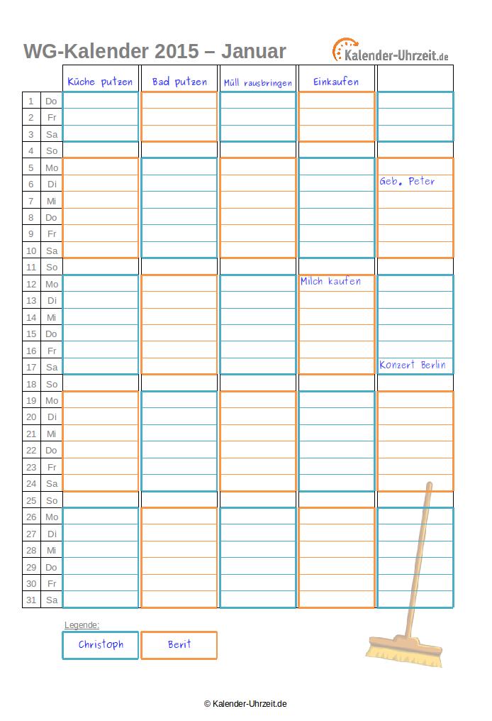 Ungewöhnlich Kalendervorlagen Für 2015 Bilder ...