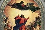 Mariä Himmelfahrt: Hochaltar St. Maria Gloriosa die Fari in Venedig (Ausschnitt)