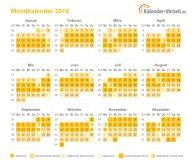 Mondkalender 2016 zum Ausdrucken